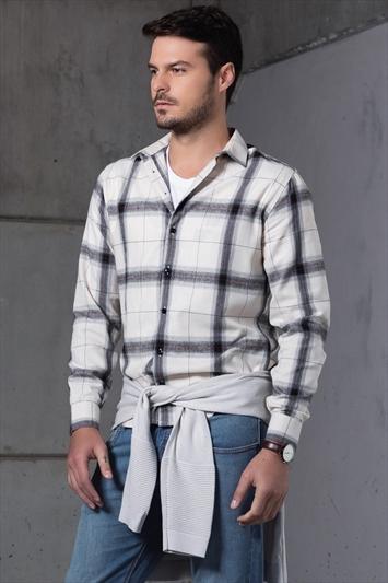 3a68428cbd Camisa Manga Longa Xadrez Smart
