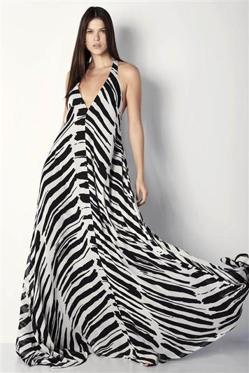 494596d78 Vestido Longo Seda Estampado   Feminino - Feminino   FORUM