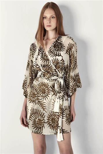 84bcf04d9 Vestido Curto Seda Estampado   Feminino Sale - Feminino Sale   FORUM