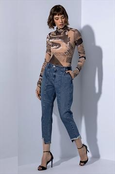 453d8270f Calça Jeans Mom Curta