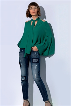 c95ccadf36 Calça Jeans Marisa Cigarrete Green