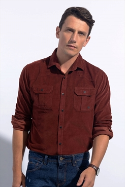 2b118099ae Camisa Veludo Slim Fit