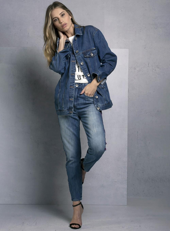 5756711790 Jaqueta Jeans Estampada